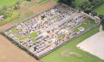 Vue aérienne du cimetière